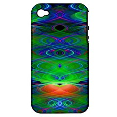 Neon Night Dance Party Apple Iphone 4/4s Hardshell Case (pc+silicone) by CrypticFragmentsDesign