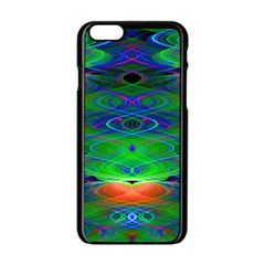 Neon Night Dance Party Apple Iphone 6/6s Black Enamel Case by CrypticFragmentsDesign