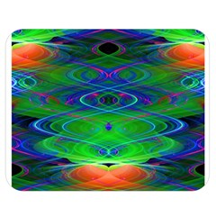 Neon Night Dance Party Double Sided Flano Blanket (medium)  by CrypticFragmentsDesign