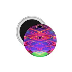 Neon Night Dance Party Pink Purple 1 75  Magnets by CrypticFragmentsDesign
