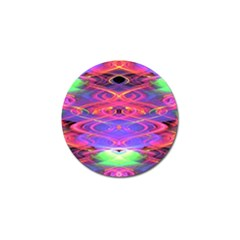 Neon Night Dance Party Pink Purple Golf Ball Marker by CrypticFragmentsDesign
