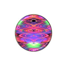 Neon Night Dance Party Pink Purple Hat Clip Ball Marker (10 Pack) by CrypticFragmentsDesign