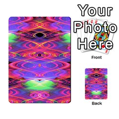 Neon Night Dance Party Pink Purple Multi Purpose Cards (rectangle)  by CrypticFragmentsDesign