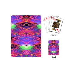 Neon Night Dance Party Pink Purple Playing Cards (mini)  by CrypticFragmentsDesign