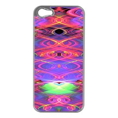 Neon Night Dance Party Pink Purple Apple Iphone 5 Case (silver) by CrypticFragmentsDesign