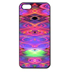Neon Night Dance Party Pink Purple Apple Iphone 5 Seamless Case (black) by CrypticFragmentsDesign