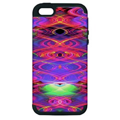 Neon Night Dance Party Pink Purple Apple Iphone 5 Hardshell Case (pc+silicone) by CrypticFragmentsDesign