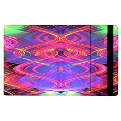 Neon Night Dance Party Pink Purple Apple Ipad 3/4 Flip Case by CrypticFragmentsDesign