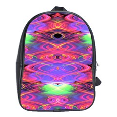 Neon Night Dance Party Pink Purple School Bags (xl)  by CrypticFragmentsDesign