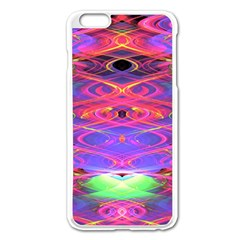 Neon Night Dance Party Pink Purple Apple Iphone 6 Plus/6s Plus Enamel White Case by CrypticFragmentsDesign