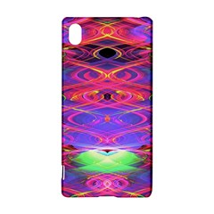Neon Night Dance Party Pink Purple Sony Xperia Z3+ by CrypticFragmentsDesign