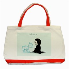 Always    Classic Tote Bag (red) by lvbart