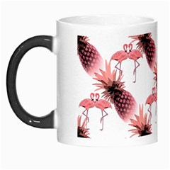 Flamingo Pineapple Tropical Pink Pattern Morph Mugs by CrypticFragmentsColors