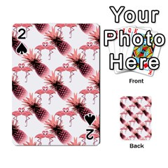 Flamingo Pineapple Tropical Pink Pattern Playing Cards 54 Designs  by CrypticFragmentsColors