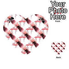 Flamingo Pineapple Tropical Pink Pattern Playing Cards 54 (heart)  by CrypticFragmentsColors
