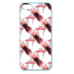 Flamingo Pineapple Tropical Pink Pattern Apple Seamless Iphone 5 Case (color) by CrypticFragmentsColors