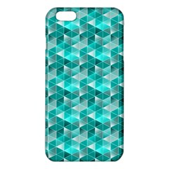 Aquamarine Geometric Triangles Pattern Iphone 6 Plus/6s Plus Tpu Case by KirstenStar