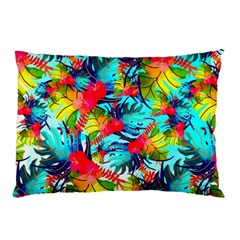 Watercolor Tropical Leaves Pattern Pillow Case (two Sides)