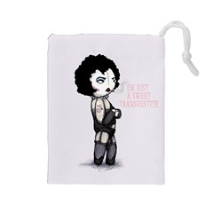 Rocky Horror Plush  Drawstring Pouches (large)  by lvbart
