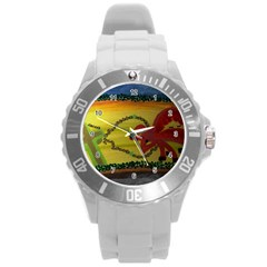 Les Couleurs Unisex Plastic Sport Watch (large)  By Jocelyn Apple/appleartcom by appleartcom