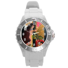 On Heaven s Unisex Door Plastic Sport Watch (large) By Jocelyn Apple/appleartcom by appleartcom