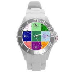 Appleartcom Unisex Plastic Sport Watch (large)  By Jocelyn Apple/appleartcom by appleartcom