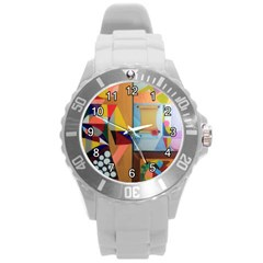 Pablo Et Moi Unisex Plastic Sport Watch (large) By Jocelyn Apple/appleartcom by appleartcom