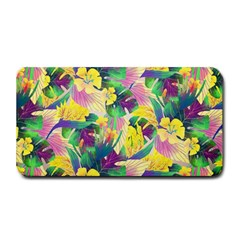 Tropical Flowers And Leaves Background Medium Bar Mats by TastefulDesigns