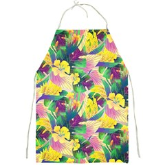 Tropical Flowers And Leaves Background Full Print Aprons by TastefulDesigns