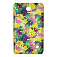 Tropical Flowers And Leaves Background Samsung Galaxy Tab 4 (7 ) Hardshell Case  by TastefulDesigns