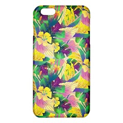 Tropical Flowers And Leaves Background Iphone 6 Plus/6s Plus Tpu Case by TastefulDesigns