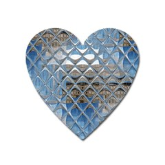 Mirrored Glass Tile Urban Industrial Heart Magnet by CrypticFragmentsDesign