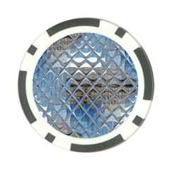 Mirrored Glass Tile Urban Industrial Poker Chip Card Guards by CrypticFragmentsDesign