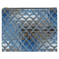 Mirrored Glass Tile Urban Industrial Cosmetic Bag (xxxl)  by CrypticFragmentsDesign