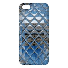 Mirrored Glass Tile Urban Industrial Apple Iphone 5 Premium Hardshell Case by CrypticFragmentsDesign