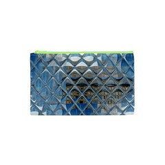 Mirrored Glass Tile Urban Industrial Cosmetic Bag (xs) by CrypticFragmentsDesign