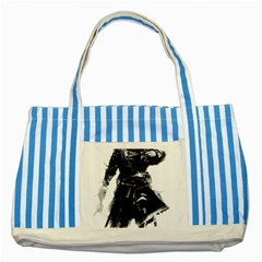 Assassins Creed Black Flag Tshirt Striped Blue Tote Bag by iankingart