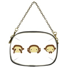 Three Wise Monkeys Chain Purses (two Sides)  by Shopimaginarystory