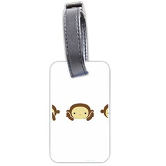 Three Wise Monkeys Luggage Tags (one Side)  by Shopimaginarystory