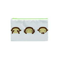 Three Wise Monkeys Cosmetic Bag (xs) by Shopimaginarystory