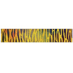 Colored Tiger Texture Background Flano Scarf (large) by TastefulDesigns