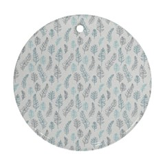 Whimsical Feather Pattern Dusk Blue Ornament (round) by Zandiepants
