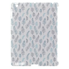 Whimsical Feather Pattern Dusk Blue Apple Ipad 3/4 Hardshell Case (compatible With Smart Cover) by Zandiepants