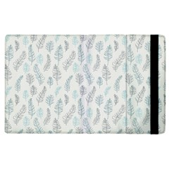 Whimsical Feather Pattern Dusk Blue Apple Ipad 2 Flip Case by Zandiepants