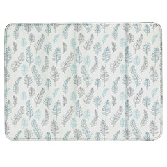 Whimsical Feather Pattern Dusk Blue Samsung Galaxy Tab 7  P1000 Flip Case by Zandiepants