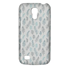 Whimsical Feather Pattern Dusk Blue Samsung Galaxy S4 Mini (gt I9190) Hardshell Case  by Zandiepants