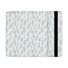 Whimsical Feather Pattern Dusk Blue Samsung Galaxy Tab Pro 8 4  Flip Case by Zandiepants