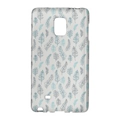 Whimsical Feather Pattern Dusk Blue Samsung Galaxy Note Edge Hardshell Case by Zandiepants