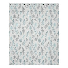 Whimsical Feather Pattern Dusk Blue Shower Curtain 60  X 72  (medium) by Zandiepants