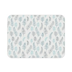 Whimsical Feather Pattern Dusk Blue Double Sided Flano Blanket (mini) by Zandiepants